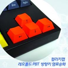 레오폴드 PBT 방향키 염료승화 컬러키캡 - 측각(정면)