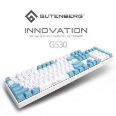 구덴베르크 이노베이션 G530 광축 게이밍 키보드 (청축) 한글  화이트블루